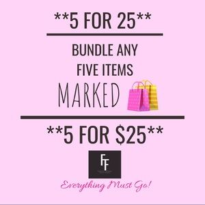 Other - 🛍 BUNDLE 5 ITEMS FOR $25 🛍